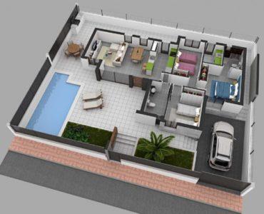 Nieuwbouw Villa Te koop in San Juan De Los Terreros in Spanje, gelegen aan de Costa de Almería