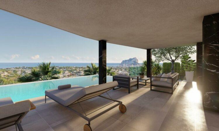 Nieuwbouw Villa Te koop in Calpe in Spanje, gelegen aan de Costa Blanca-Noord