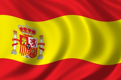 Vlag Spanje wapperend