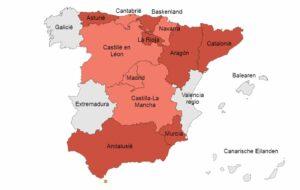 Overzicht van lockdowns in Spanje