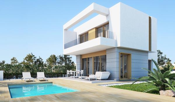 Nieuwbouw villas in Orihuela (Spanje, Costa Blanca)